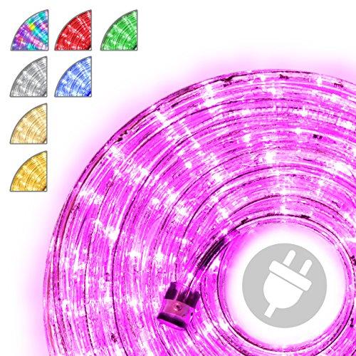 Nipach GmbH 10m 240 LED Lichterschlauch Lichtschlauch pink – Innen- und Außenbereich – energiesparende Leucht-Dekoration für Garten Fest Weihnachten Hochzeit Gesamtlänge ca. 11,50 m