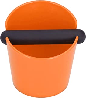 コーヒーノックボックス、絶妙なディープボウルデザインの耐衝撃性コーヒーノックコンテナ、ミルクティーショップホーム用の軽量滑り止め(Mini Exposure【Orange】)