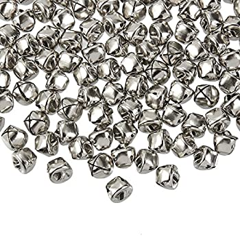 Jingle Bells - 200-Count Craft Silver Bells Christmas Sleigh Bells for Wreath Holiday Home Decoration DIY Art Crafts Silver Metal 0.5 x 0.5 x 0.5 Inches