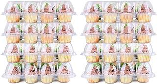 MingSheng Lot de 8 boîtes de rangement pour aliments 12 trous Transparent