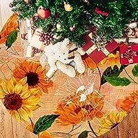 ツリースカート クリスマスツリースカート デイジー きれい 花柄 ホリデーデコレーション メリイクリスマス飾り 下敷物 可愛い 雰囲気 クリスマスパーティー 直径77cm