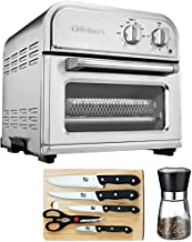 Cuisinart AFR-25 High-Efficiency AirFryer Silver Bundle with Deco Gear Salt Mill, Spice Mill and Pepper Grinder, Stainless...