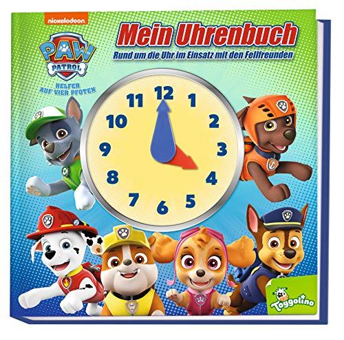 PAW Patrol: Mein Uhrenbuch - Rund um die Uhr im Einsatz mit den Fellfreunden: Buch mit Uhr zum Lernen