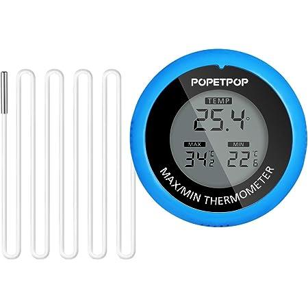 POPETPOP Thermomètre de Piscine Spas Thermomètre Thermomètre de Piscine avec Thermomètre Flottant Numérique sans Fil pour Piscine Bain Spas d'eau Spas
