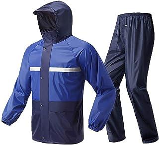GJNVBDZSF Terno à prova d'água, capa de chuva para montar, motocicleta, capa de chuva para adultos com divisão única à pro...
