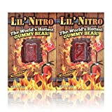 Lil Nitro Gummy Bear | Worlds Hottest Gummy Bear | Pack of 2 | Free Haribo Mini Pack Included