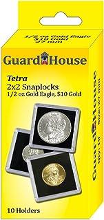 Guardhouse?–?2?x 2?1?/ 2?oz Age Tetra Snaplock、コインholders-10?EA
