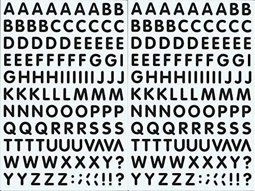 (シャシャン)XIAXIN 防水 PVC製 アルファベット ステッカー セット 耐候 耐水 ローマ字 キャラクター 表札 スーツケース ネームプレート ロッカー 屋内外 兼用 TS-541 (2点, ブラック)