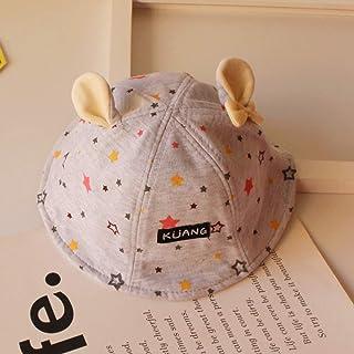 mlpnko Sombrero de Pescador para niños Baby Star Basin Cap Hat Plate New Dome Ear Baby Hat 1-3 años de Edad Código Gris Gris
