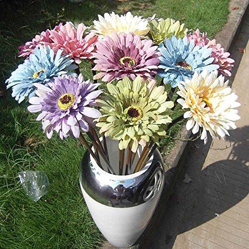 Calcifer® 10 53,3 cm chrysanthèmes Bouquet de fleurs artificielles plantes pour décoration de la maison/décoration de mariage