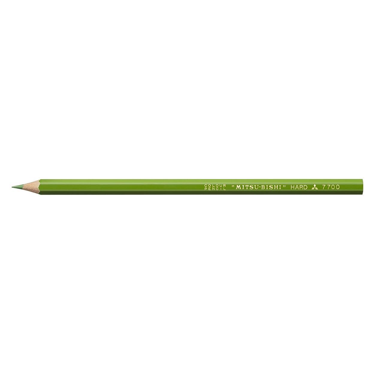 豊富植物の明日三菱鉛筆 硬質色鉛筆 -7700 単色1ダース きみどり