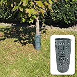One Stop Outdoor (6-Pack) Plastic Tree Trunk Protector - Easy Locking Tree Guard - Prevent Damage from Trimmers, mowers, Rodents & Sun Scald (Green 6-Pack)