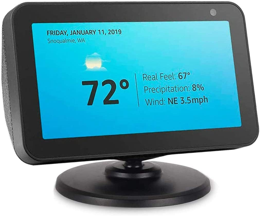 Kovake for Echo Show 5 Adjustable Stand Echo Show 5 Black Stand Easily Tilt Your Echo Show 5 to Improve Viewing Angle