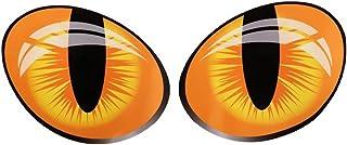 ملصق سيارة بعيون قطة مضحكة ثلاثية الأبعاد من Decdeal 2 قطعة ملصق سيارة لطيف للمحاكاة عاكسة للضوء مرآة خلفية غطاء النافذة م...