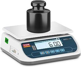 TEM Balance De Table Cuisine Pèse-Aliment Électronique Digitale Professionnelle Commerciale TSRP+LCD06T-B1 (Calibrée, 6 k...