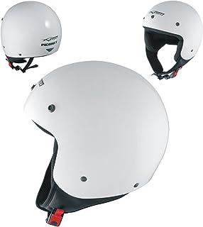 Motorradhelm Quad Roller Offenes Jet Helm Custom ECE 22 05 Polierten Weiss M