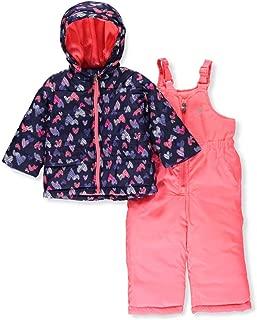 OshKosh B'Gosh Girls Printed Heavey Weight Winter Coat and Snow Pants