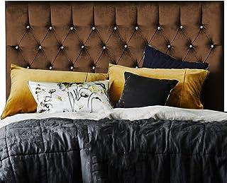 H-Cube Furniture Royal Williamfield tapicerowane łóżko divan zagłówek tkanina szenilowa - diamenty / pasujące guziki różne...