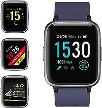 Smartwatch, 5ATM Impermeable Reloj Inteligente Hombre Mujer, Pulsera Actividad Inteligente Reloj Deportivo Reloj Fitness con Pantalla Táctil Completa Pulsómetro Cronómetros para iPhone iOS Android