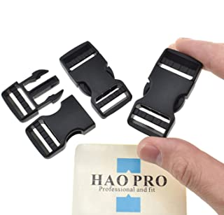 "SGH Pro Quick Side Release Buckles 0.75"" Wide Dual Adjustable Clips Snaps No Sewing Heavy Duty Plastic 3 Pack Replacement for Nylon Strap Webbing Survival Paracord Backpack Fanny Pack Waist Strap"