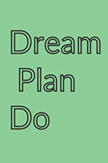 dream plan do: Inspirational and motivated Quote Notebook for Women and men - Trendy White/black and Gold Marble with Rose...