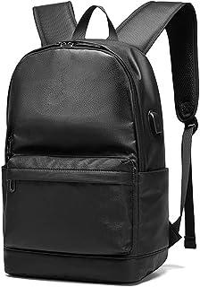 SPAHER Zaino per Laptop in Pelle da 15,6 pollici Zaino casual unisex Zaino per iPad Borsa da scuola Escursionismo Viaggi B...