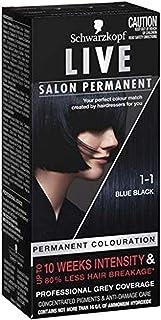 Schwarzkopf LIVE Salon Permanent Hair Colour 1-1 Blue Black