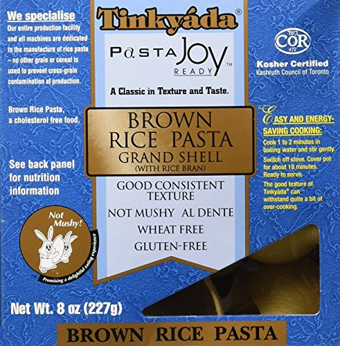 Brown Rice Pasta Grand Shell 8 oz Pkg ( 2 Pack )