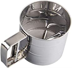 SYGA Sieve Cup Manual Sifter Powder Sieve Flour Sifter Sieve Tool Made of Stainless Steel for Powder screening