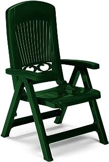 Sillón atractivo de 5 posiciones – Resina verde