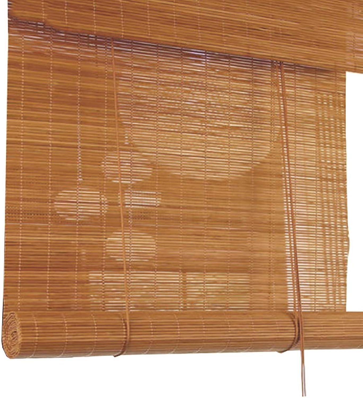 protección post-venta Persianas de bambú bambú bambú de Color sólido Natural, con Cortina Plana Cortina de bambú, para casa de té Estudio Cocina (Color   Flat Curtain, Tamaño   80x160cm)  preferente