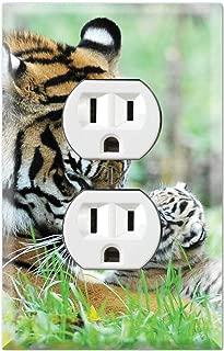 Ranthambhor Rajbagh Lake 3dRose lsp/_75694/_6 Royal Bengal Tiger Indiaas10 Jra0340  Jagdeep Rajput  2 Plug Outlet Cover