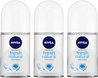 Nivea Fresh Natural Roll On, 50ml (Pack of 3)