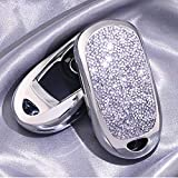Royalfox(TM) 2 3 4 5 Buttons 3D Bling Smart keyless Entry Remote Key Fob case Cover for Buick Verano Regal Lacross Encore Envision Enclave GL8 2015 2016 2017 2018 Accessories (Silver)