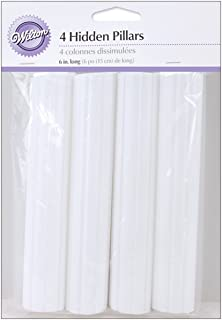 Wilton 303-8 4-Pack Hidden Pillar for Cakes, 6-Inch