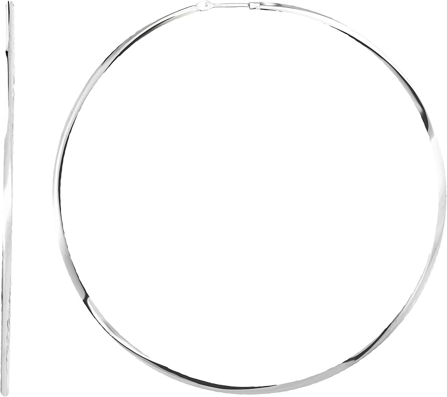 Silver with Rhodium Finish Earring 70mm Clasp NEW before selling ☆ Deluxe Endless