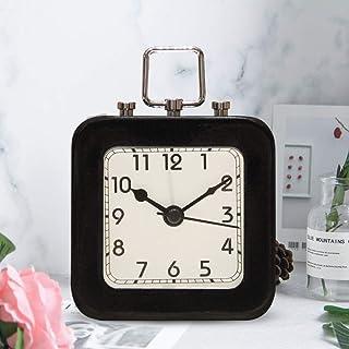 SGZBY Reloj Despertador Reloj Despertador Digital Creativo Multifunción Modelos Cuadrados Simples Manija Silenciosa Reloj Despertador De Metal Reloj De Diseño
