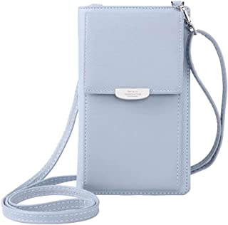 NYKKOLA Small Crossbody Bag Cell Phone Wristlet Purse Wallet Mini Handbag with Shoulder Strap For Women Lady Girls