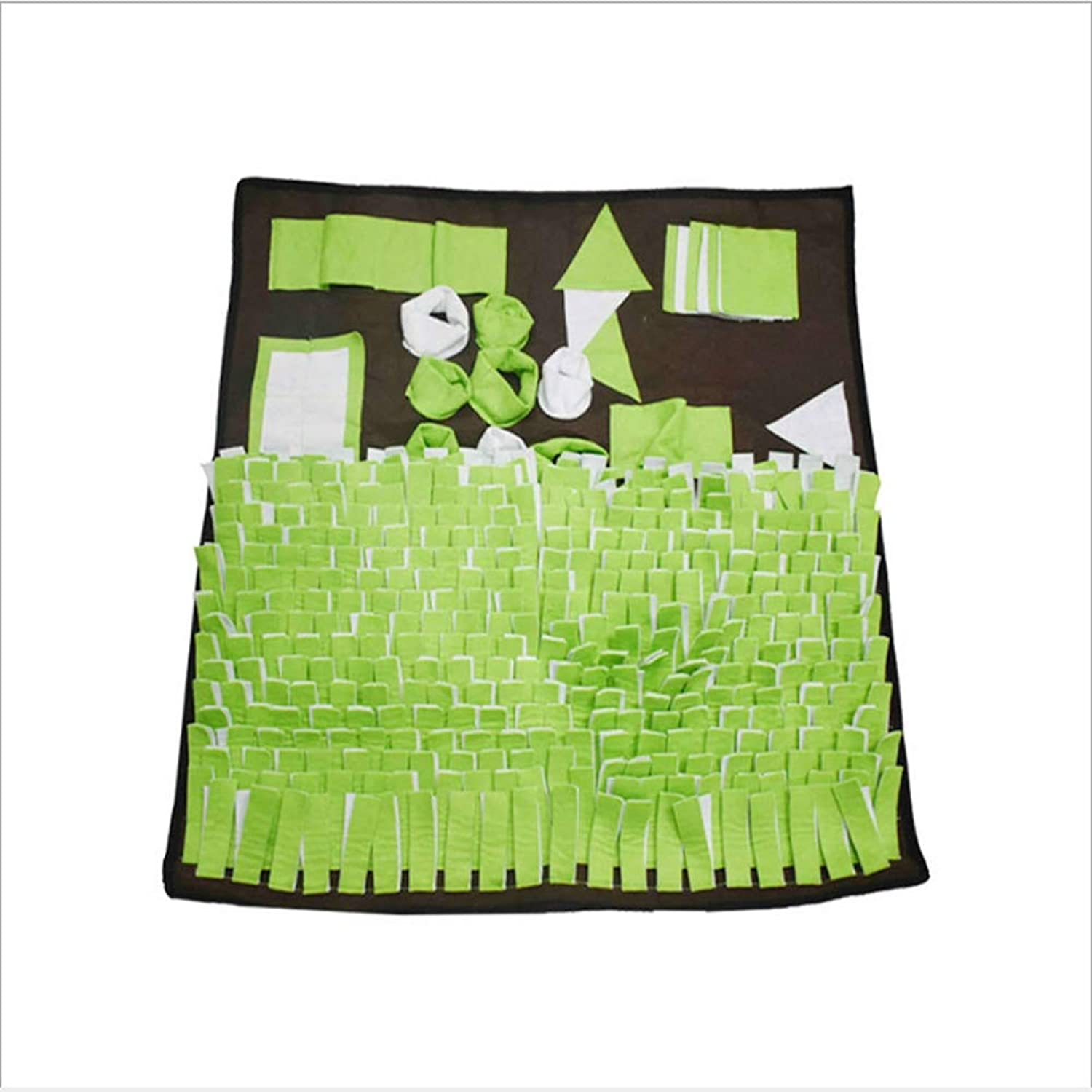 Scriqq Snuffle Mat for Dogs Small Dog Toys Coniglio Trects Activity Toy Food Puppy Training Pads,Green,80 * 80cm