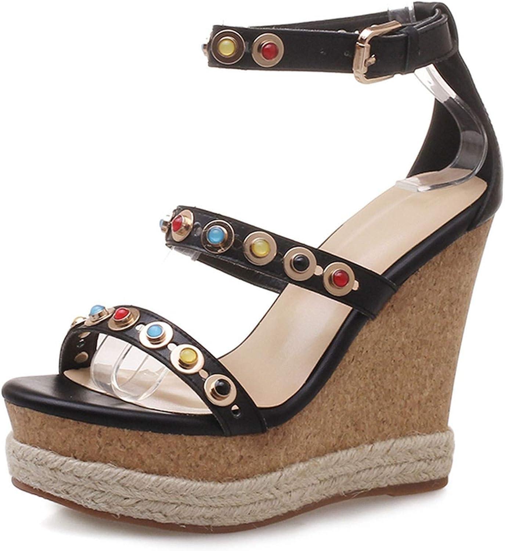 GO-SAMSARA heels Rubber Buckle Casual Sandalias Sandals Women ZYL2462