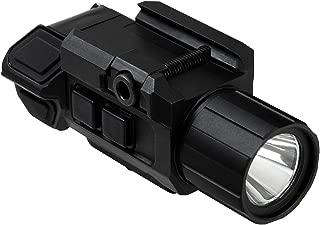 NC Star VAPFLSGV3 Pistol Flashlight & Laser, 3W Ultra Bright, 200 Lm LED, Fully Adjustable, Strobe, Green Laser