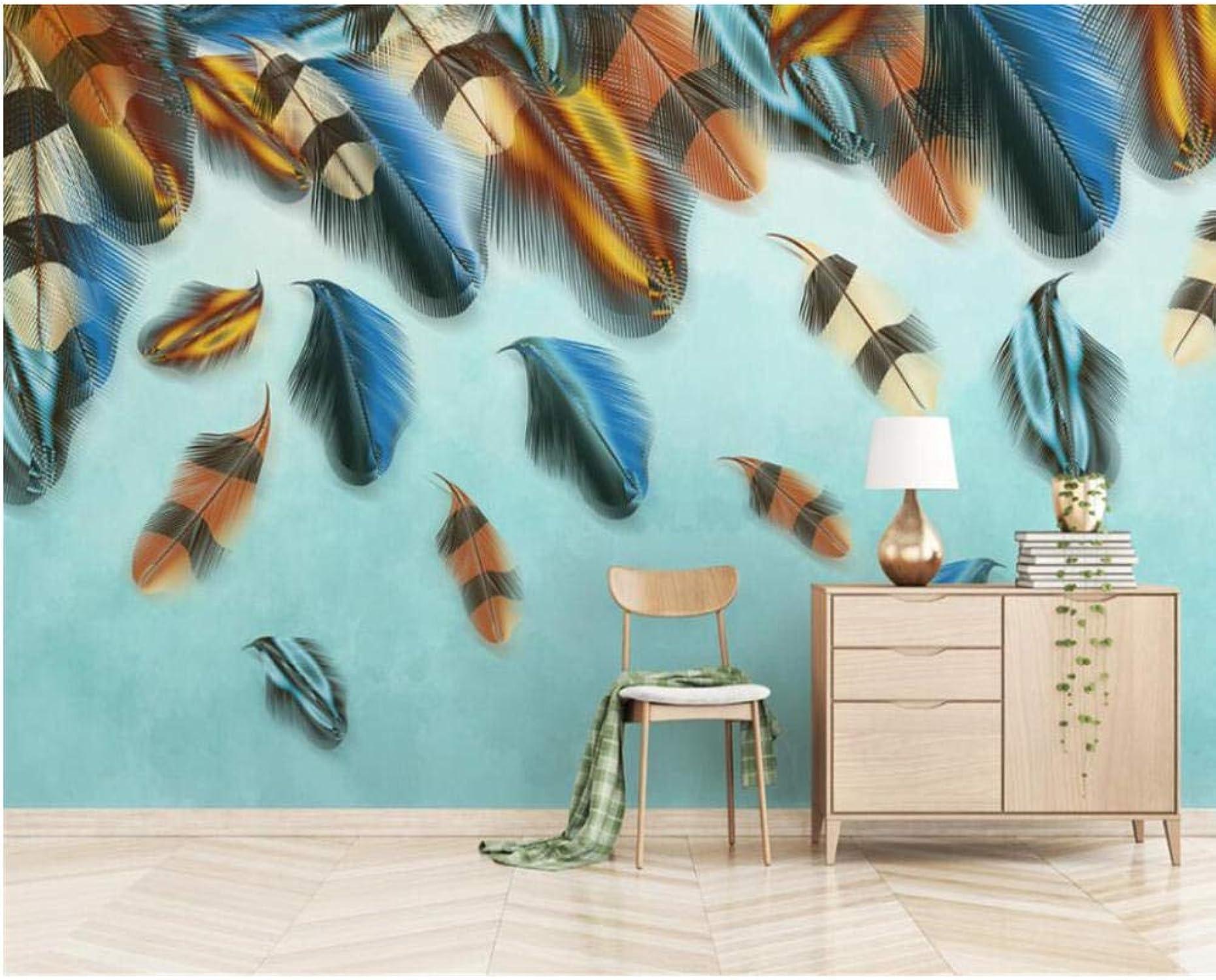 60% de descuento Mural Papel Tapiz 3D Personalizado Moderno Moderno Moderno De Alta Calidad De Colors Decoración De La Parojo De Plumas Pintura Parojo Papel Decoración Para El Hogar 200X140Cm  marcas de moda