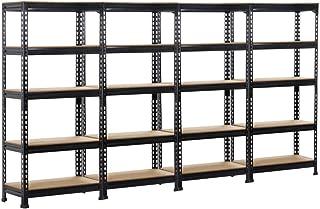 Yaheetech 4 x Etagères de Rangement 150 x 70 x 30 cm Étagère Metallique Atelier/Garage/Cuisine Charge Lourde 150 kg par Ni...
