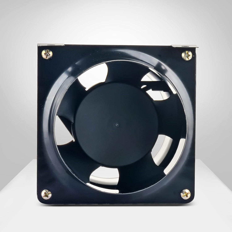 Ventilador de canal 199 m³/h, ventilador de tubo, impermeable, ventilador de canal, para cuarto de baño o salida de aire, grado de protección IP44, rango de temperatura de funcionamiento – 20 ℃ ~ 60 ℃