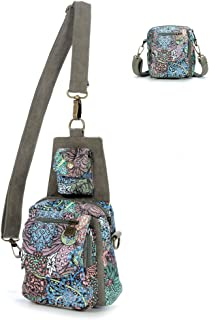 Black Butterfly Dual Purpose Chest Pack Crossbody Bag Canvas Shoulder Bags Original Bohemia for Women Teen Girls Outdoor