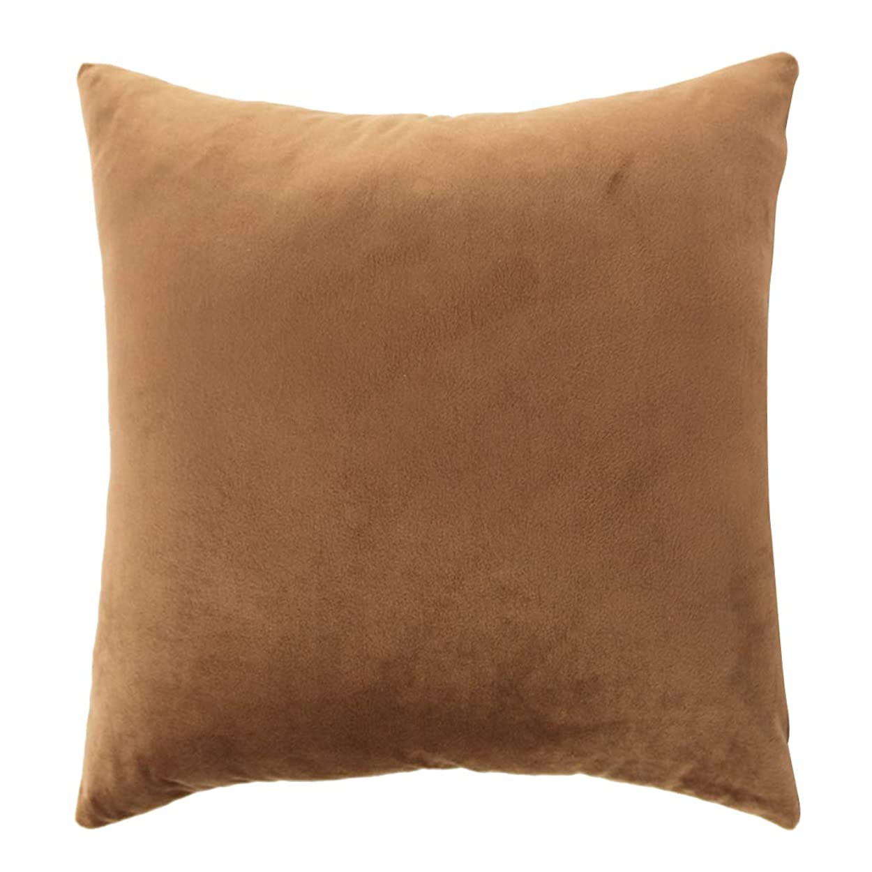 十分なシーケンスラジカルクッションカバー 装飾的 枕カバー ベルベット 快適 ソファー 部屋 飾り 多種選べる - ブラウン, 2