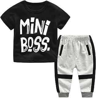81a6ca779933d LUCKYCAT Toddler Enfants Garçons Filles Lettre Imprimer T-Shirt Tops +  Camouflage Pantalon Tenues Ensemble