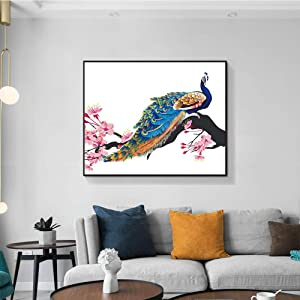 Musemailer Framed Peacock Canvas Wall Art Prints 18