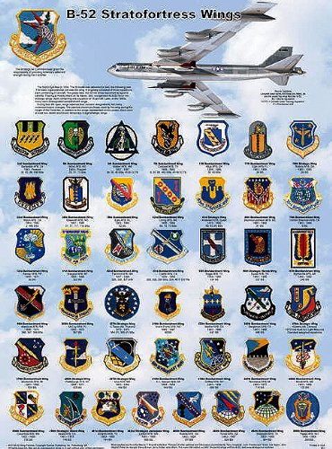 Laminated Bomber Aircraft: B-52 Stratofortress Wings Poster