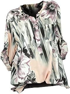 Women Top Long Sleeve Plus Size Chiffon Button Tunic Blouse T-Shirt S-5XL